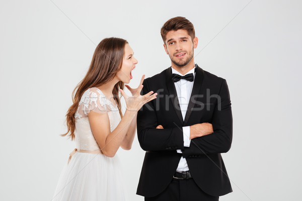 Image of unhappy young couple Stock photo © deandrobot