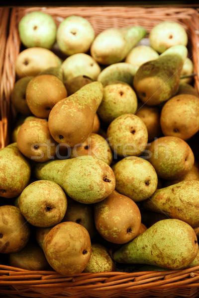 梨子 超級市場 圖像 橙 吃 農業 商業照片 © deandrobot