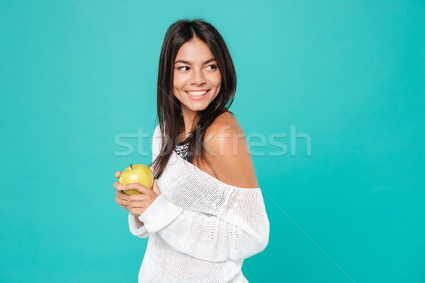 Alegre atractivo pie manzana roja Foto stock © deandrobot