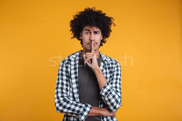 портрет молодые африканских человека мира Сток-фото © deandrobot