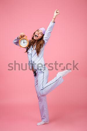 изображение счастливым кричали прыжки Сток-фото © deandrobot