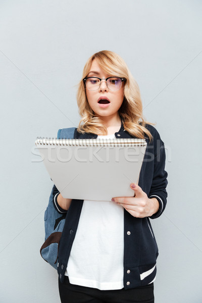 Woman with folder Stock photo © deandrobot