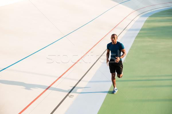портрет соответствовать молодые спортсмен работает Сток-фото © deandrobot