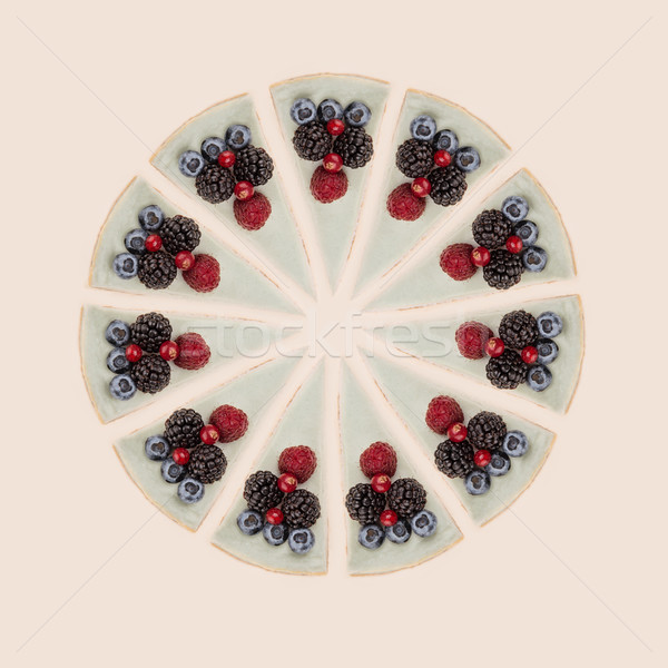 Cercle bleu baies différent savoureux isolé Photo stock © deandrobot