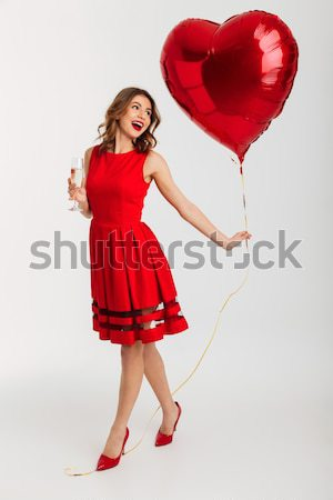 Ritratto vestito rosso Foto d'archivio © deandrobot