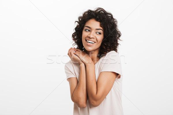 Portrait belle femme jeans Photo stock © deandrobot
