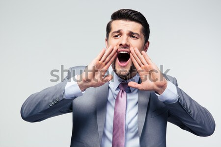 Excited fitness man  Stock photo © deandrobot