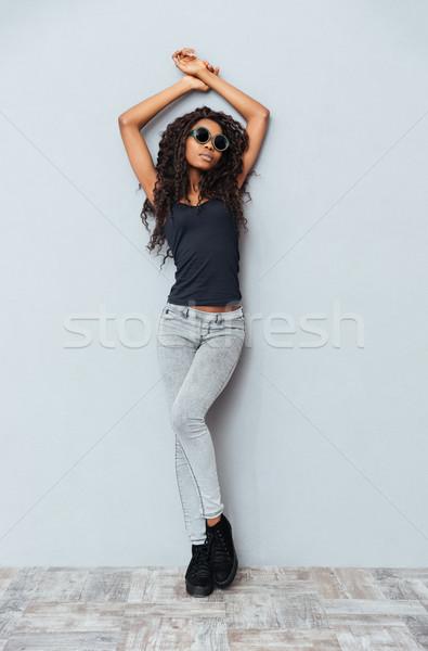 Beautiful fashion afro american woman Stock photo © deandrobot