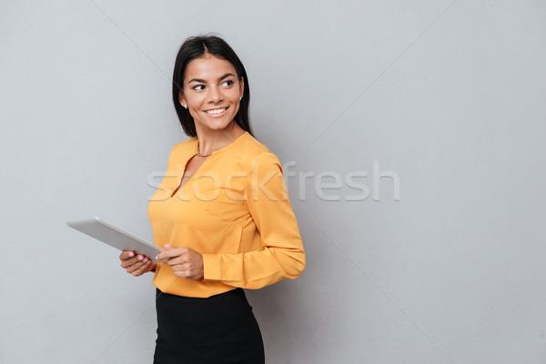 Zijaanzicht zakenvrouw pak Stockfoto © deandrobot