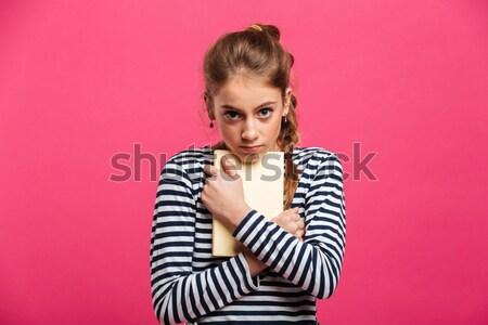 Retrato excitado nina dinero Foto stock © deandrobot