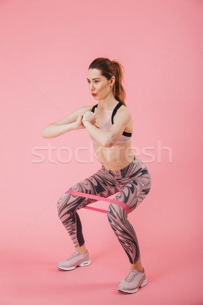 Vertical vista lateral imagem fitness exercer Foto stock © deandrobot