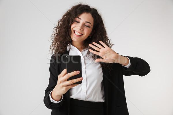 ストックフォト: 肖像 · かなり · 小さな · 女性実業家 · 孤立した