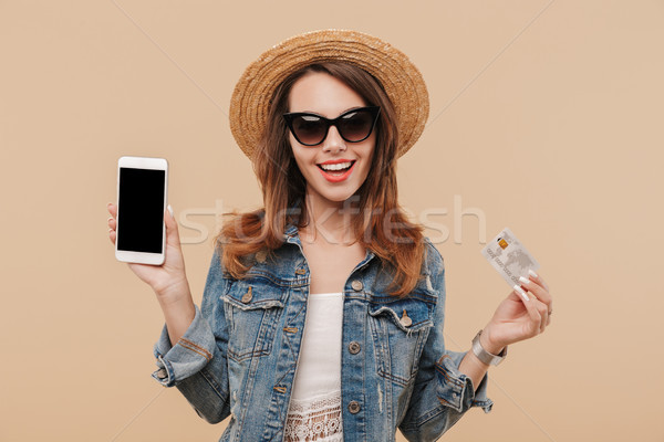 Portrait of a cheerful young girl in summer clothes Stock photo © deandrobot
