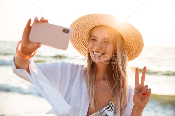 Schönen junge Mädchen Sommer hat Badebekleidung Zeit Stock foto © deandrobot