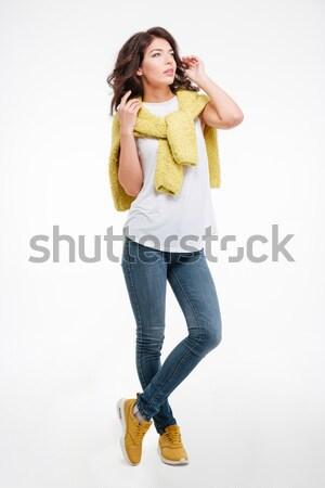 肖像 沈痛 女性 孤立した ストックフォト © deandrobot