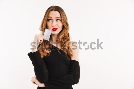 ゴージャス 女性 赤い口紅 唇 魅力的な ストックフォト © deandrobot