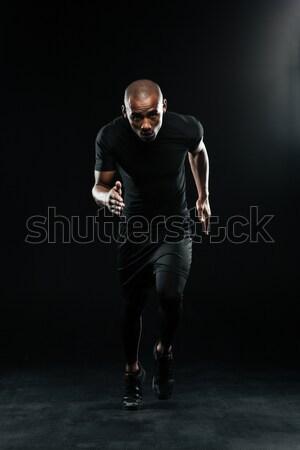 写真 アフロ アメリカン を実行して 男 ストックフォト © deandrobot