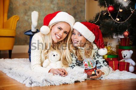Jeunes mère tricoté chandail Photo stock © deandrobot