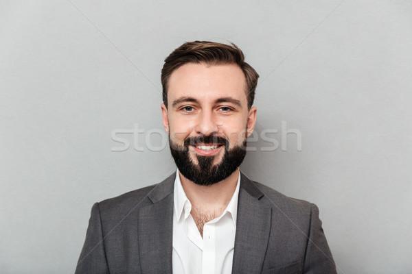 Portre genç sakallı adam beyaz Stok fotoğraf © deandrobot