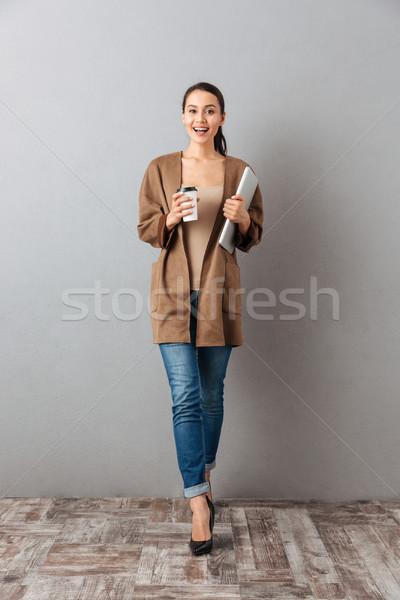 肖像 満足した 小さな アジア 女性 ストックフォト © deandrobot