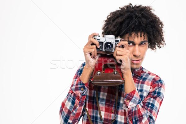 афро американский человека фото ретро Сток-фото © deandrobot