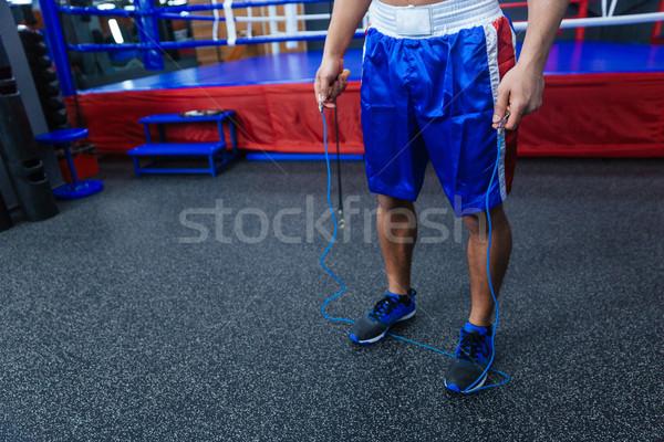 Male boxer legs Stock photo © deandrobot