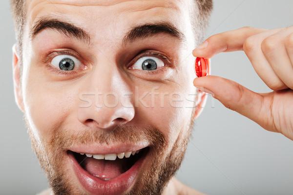 Portrait heureux homme rouge Photo stock © deandrobot