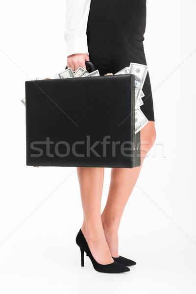 Close up portrait of a businesswoman wearing high heels Stock photo © deandrobot