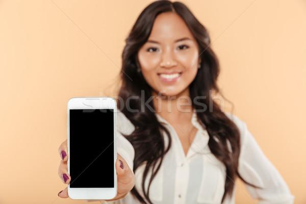 Retrato feliz Asia mujer Foto stock © deandrobot