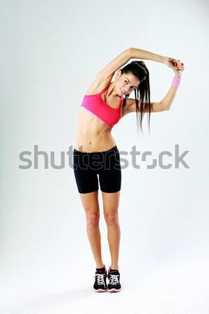 Retrato jovem belo esportes mulher Foto stock © deandrobot