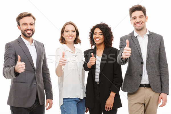Group of multiracial business people Stock photo © deandrobot