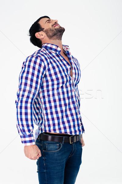 Portret toevallig man permanente geïsoleerd Stockfoto © deandrobot
