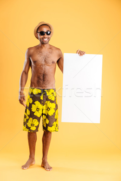 портрет счастливым афро американский человека Сток-фото © deandrobot