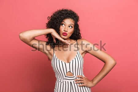 Stock photo: Portrait of a pretty sexy beautiful beach girl posing