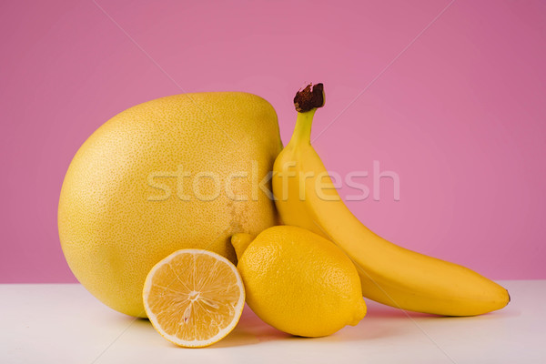 Mixed citrus fruit Stock photo © deandrobot