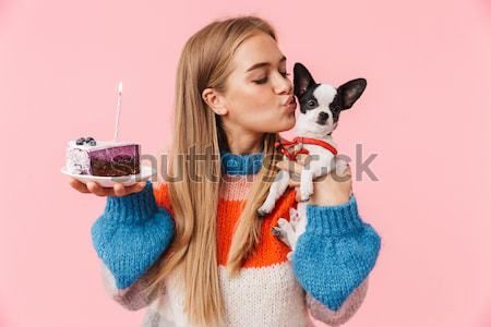 Girl with confection Stock photo © deandrobot
