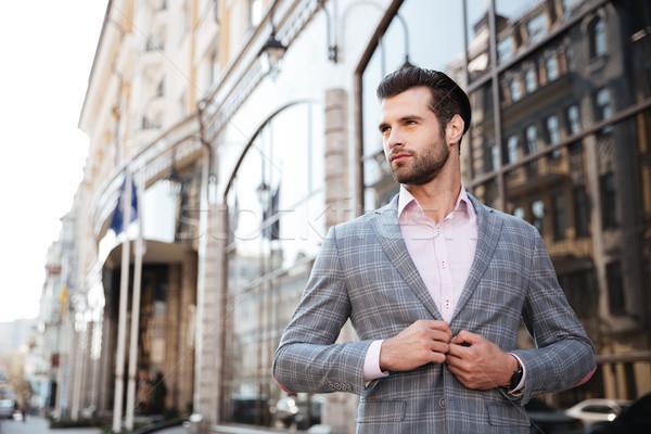 Portrait jeunes bel homme veste ville homme Photo stock © deandrobot