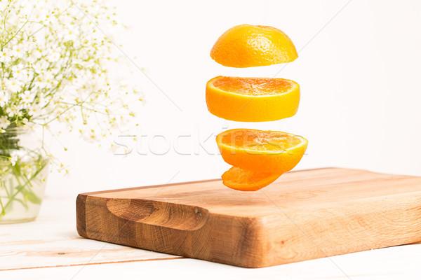 ストックフォト: 全体 · オレンジ · 飛行 · 木製