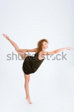 女性 バレリーナ 巻き毛 ダンス 肖像 ストックフォト © deandrobot