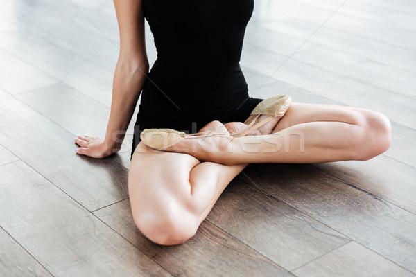 脚 小さな 女性 バレリーナ バレエ スタジオ ストックフォト © deandrobot
