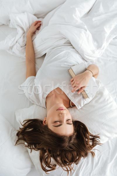 Hermosa pacífico libro dormir Foto stock © deandrobot