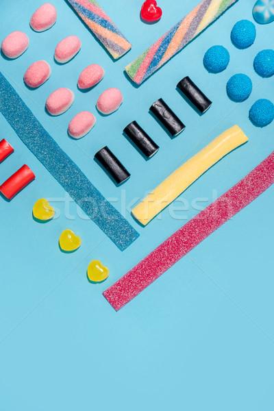 Gruppe farbenreich lecker süß Süßigkeiten Stock foto © deandrobot