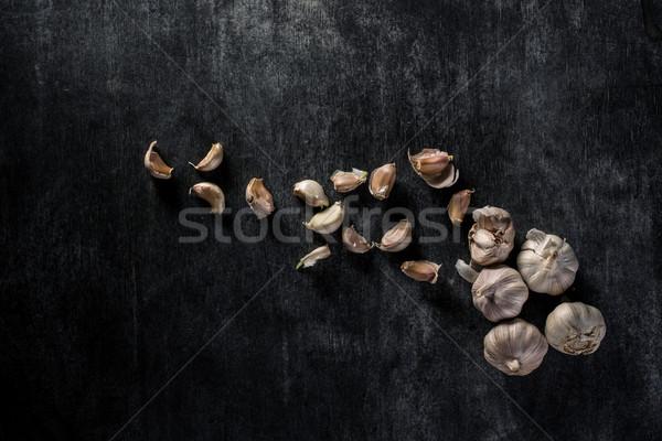 画像 ニンニク 暗い 先頭 表示 健康 ストックフォト © deandrobot