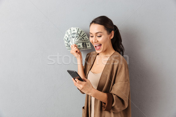 Portrait of a satisfied young asian woman Stock photo © deandrobot
