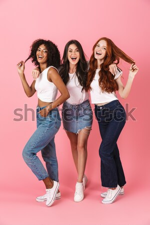Stockfoto: Afbeelding · twee · schoonheid · vrouwen · poseren