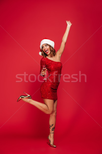 ストックフォト: 肖像 · 幸せ · 女性 · クリスマス