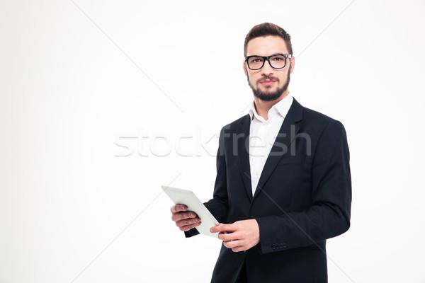 深刻 ビジネスマン 肖像 見える ストックフォト © deandrobot