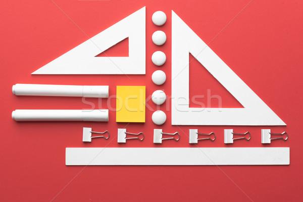 Rood tabel top foto Stockfoto © deandrobot