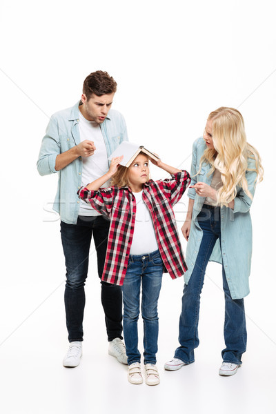Full length portrait of a family having and argument Stock photo © deandrobot