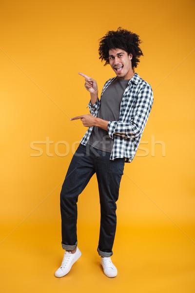 Foto stock: Retrato · alegre · jovem · africano · homem